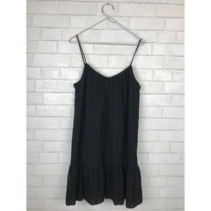 Madewell daisy stitch sundress black medium